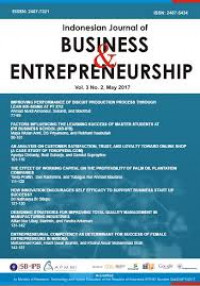 Image of Indonesian Journal of Business and Entrepreneurship, Volume 5 Tahun 2019